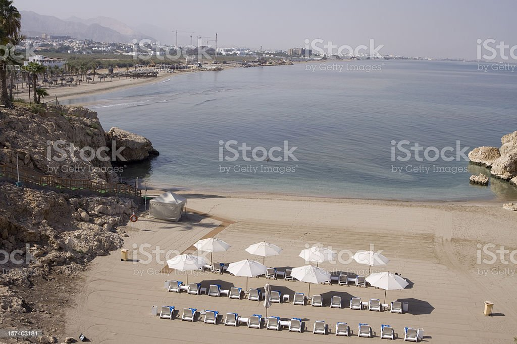 Private secluded beach stock photo