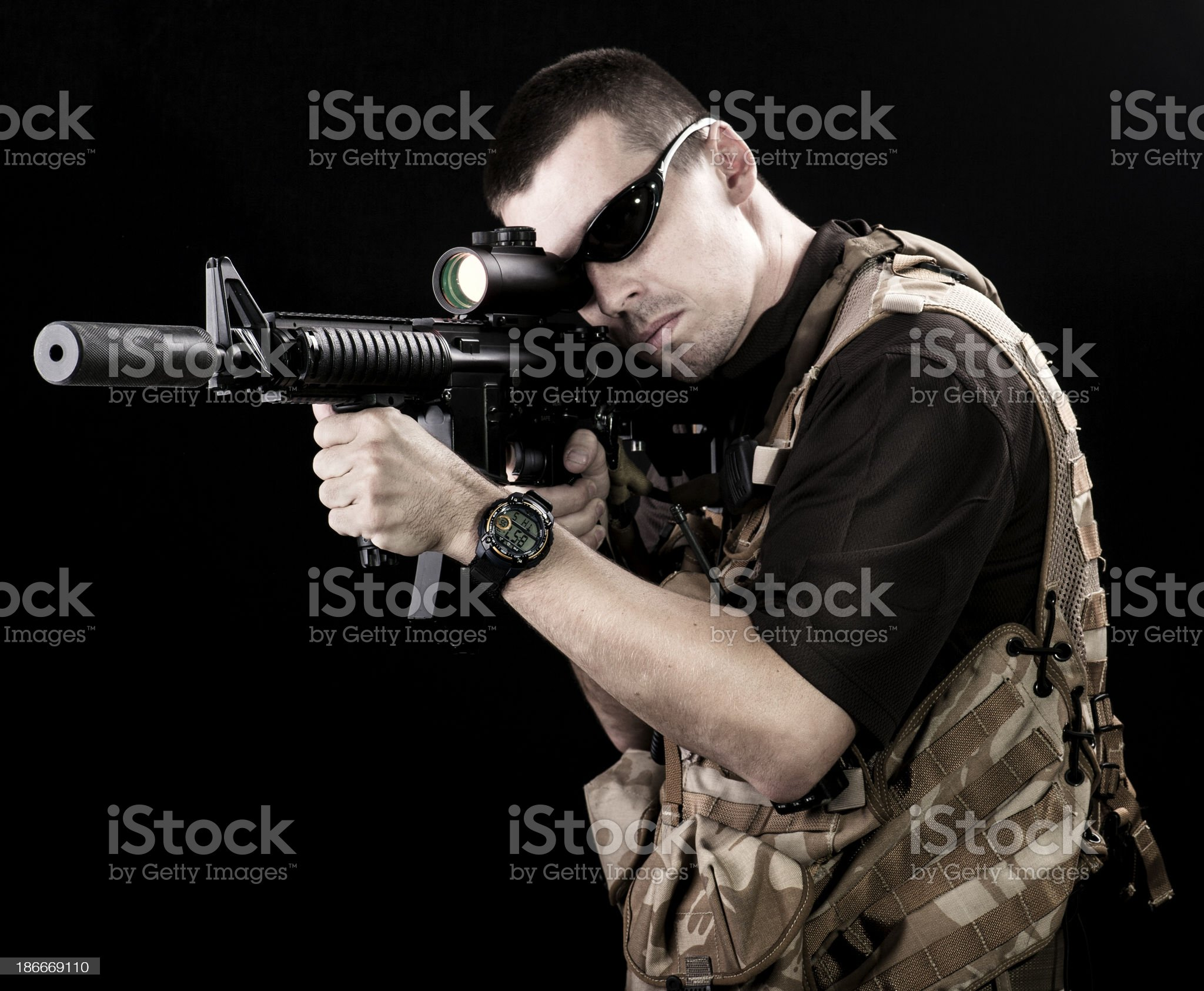 Private security royalty-free stock photo