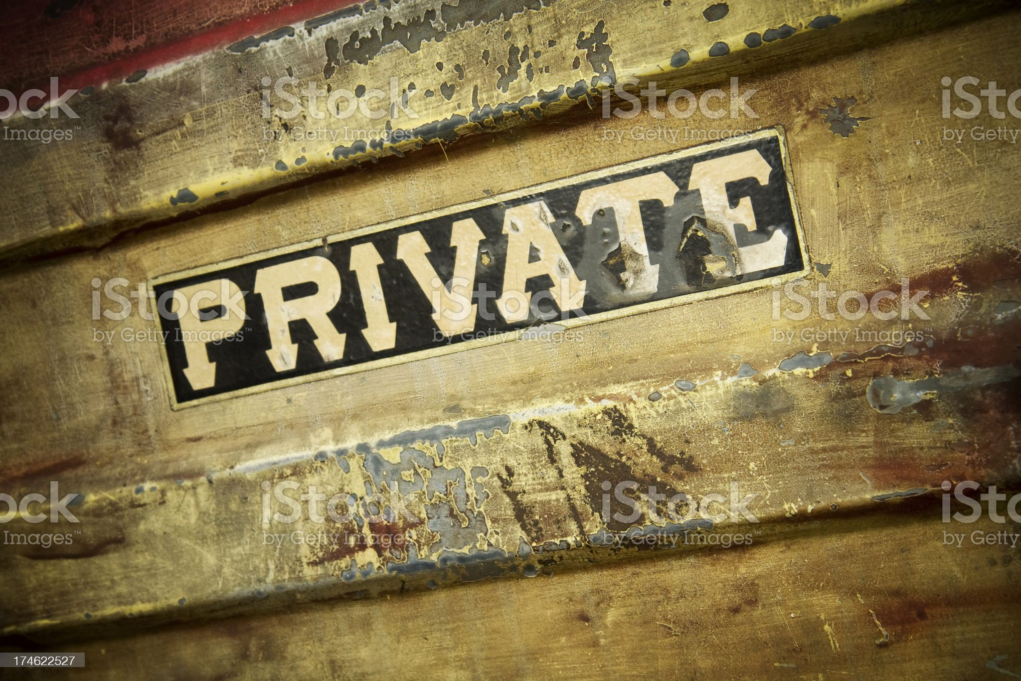 Private sign royalty-free stock photo