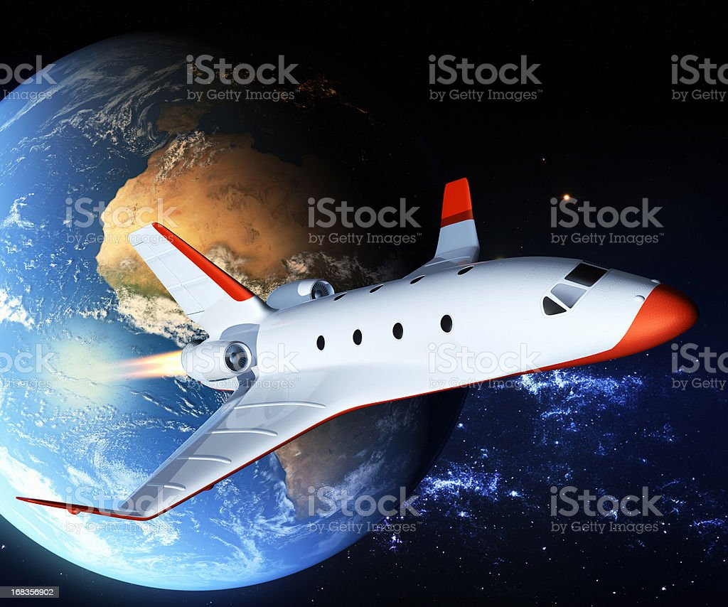 Private space shuttle stock photo