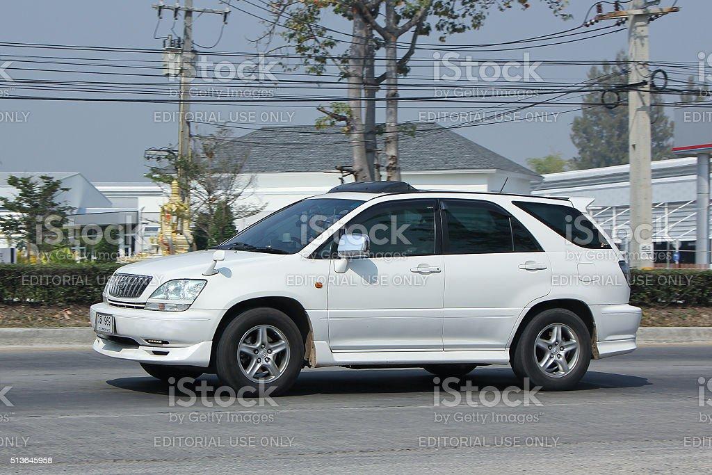 Private Suv car Lexus RX300. stock photo