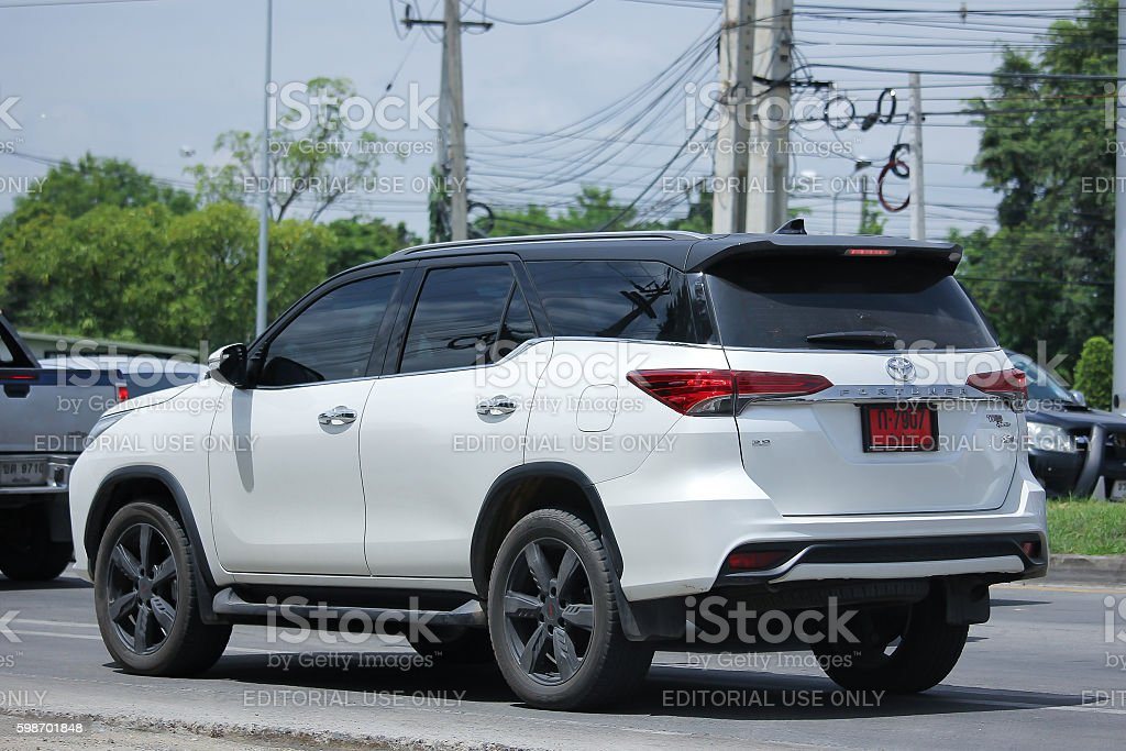 Private suv car, Toyota Fortuner. stock photo