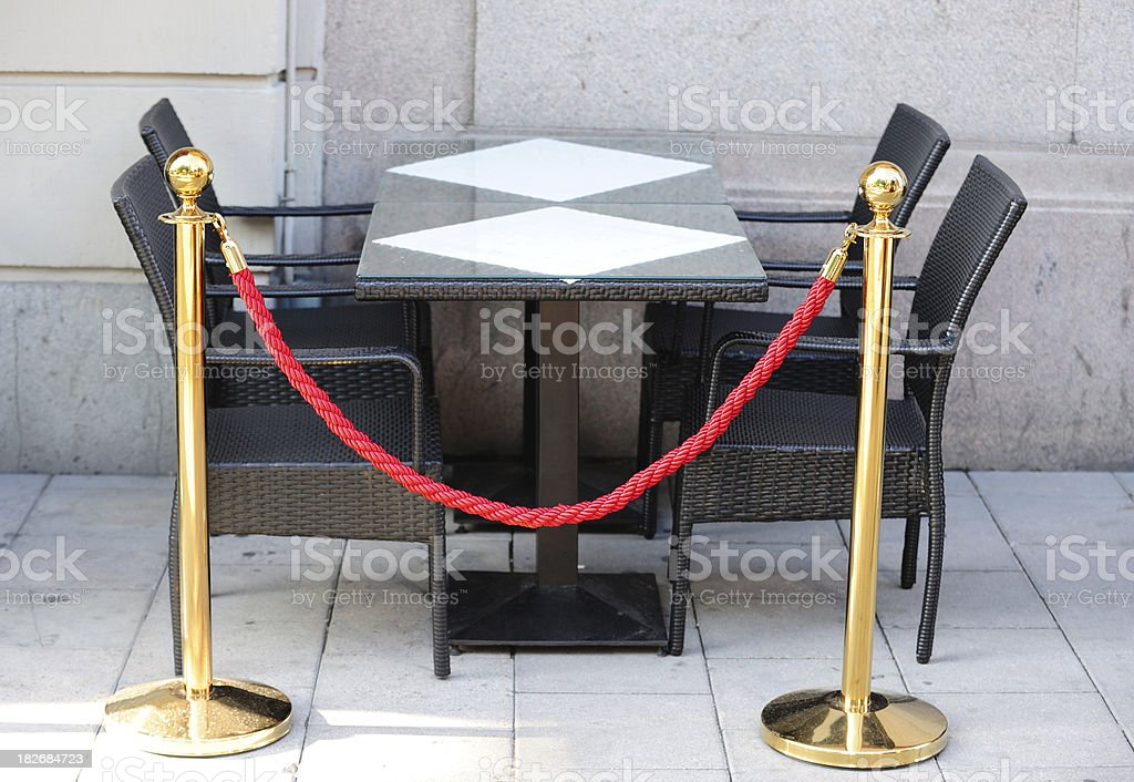 Private table royalty-free stock photo