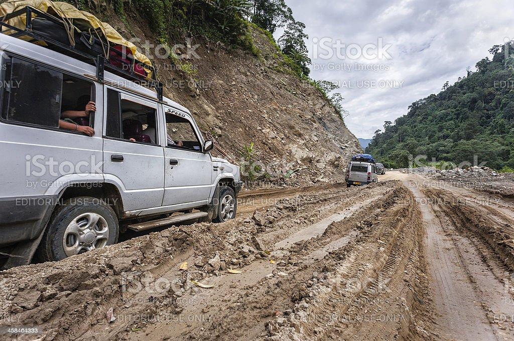 Private taxis, sumo, on road to Tawang, Arunachal Pradesh, India. royalty-free stock photo