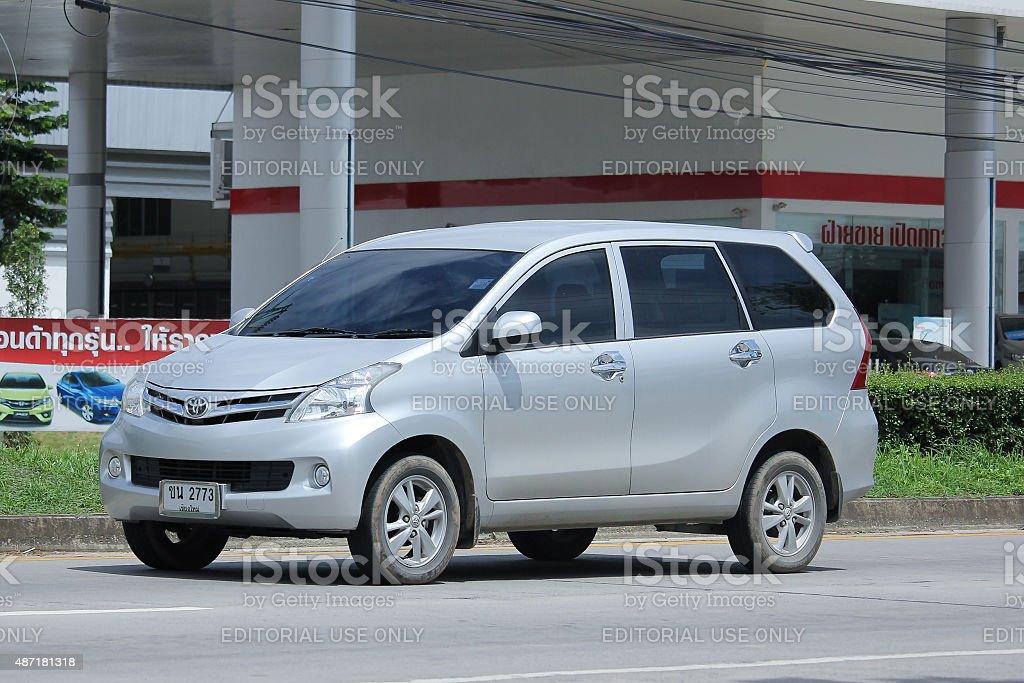 Private Toyota Avanza car. stock photo