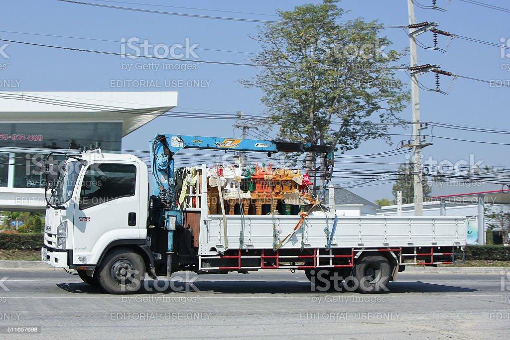 Private Truck with crane stock photo