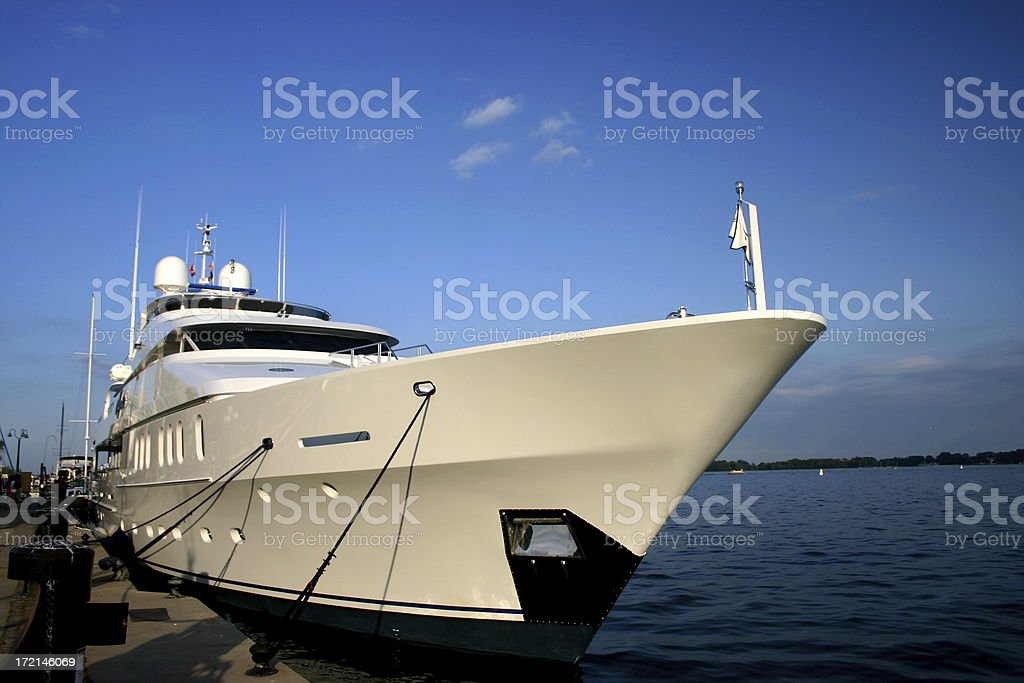 Private Yacht royalty-free stock photo
