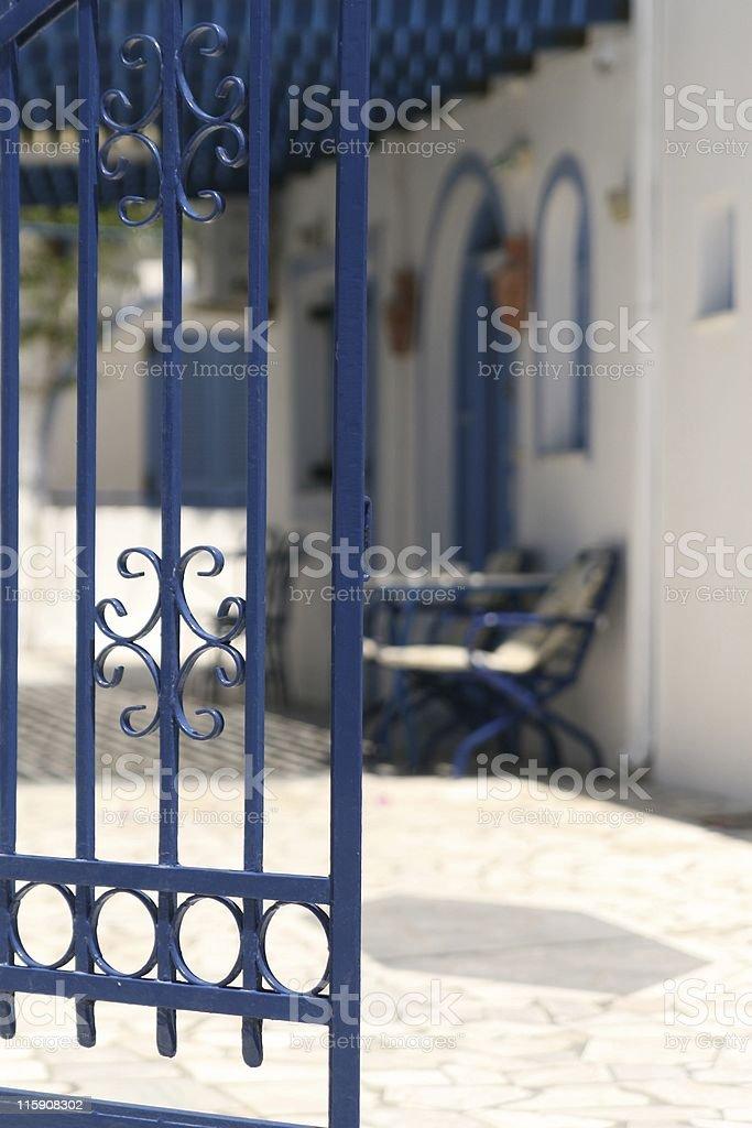 private yard stock photo