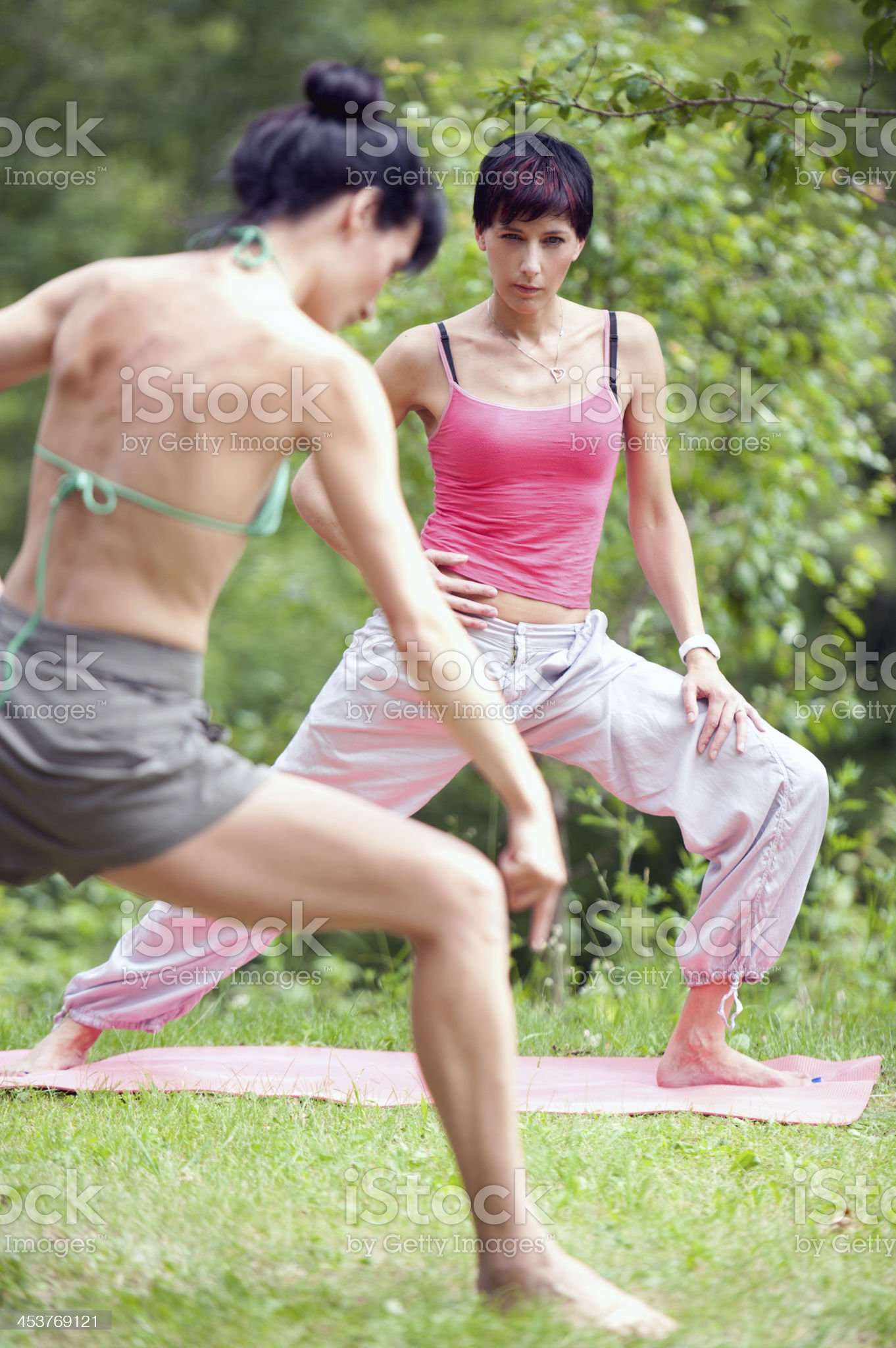 Private Yoga Class royalty-free stock photo