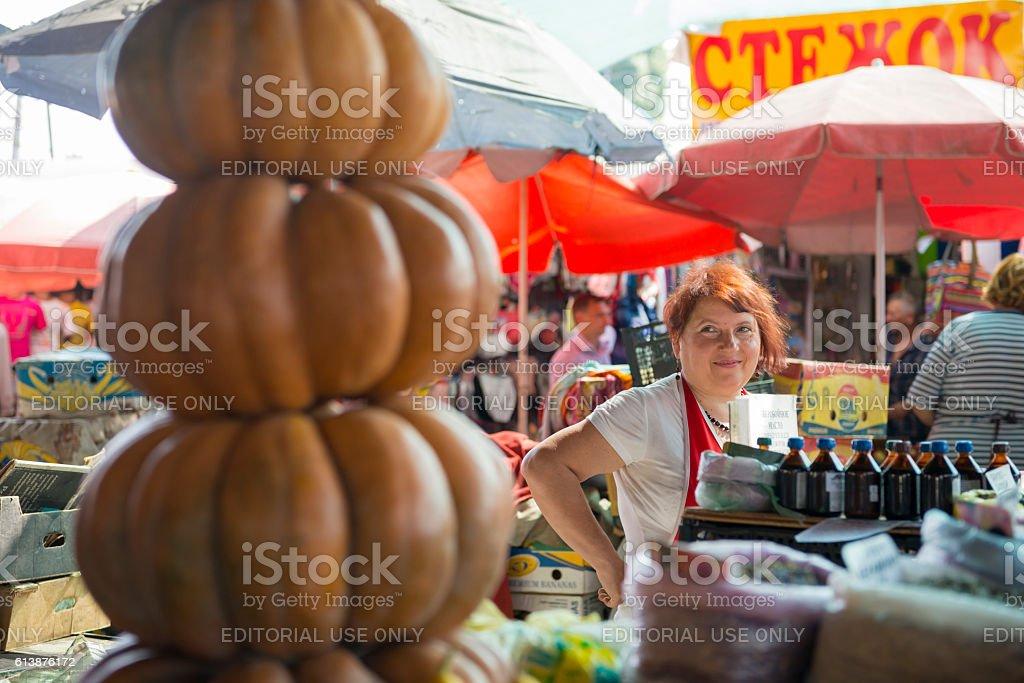 Privoz market in Odessa, Ukraine stock photo
