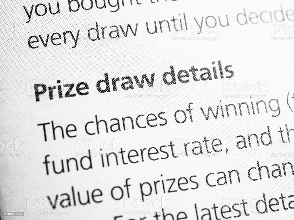 Prize draw stock photo