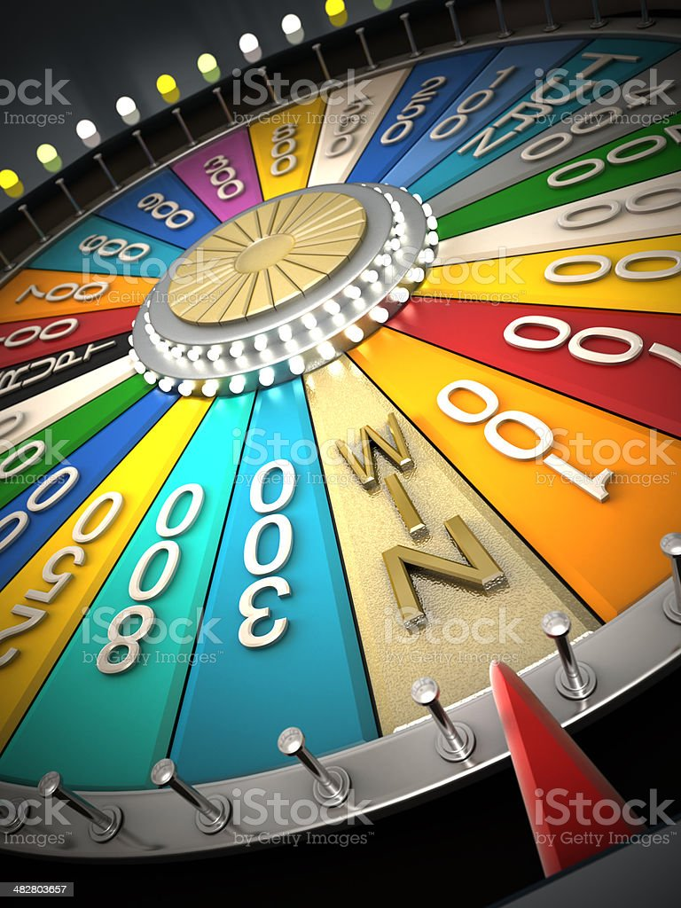 Prize wheel stock photo