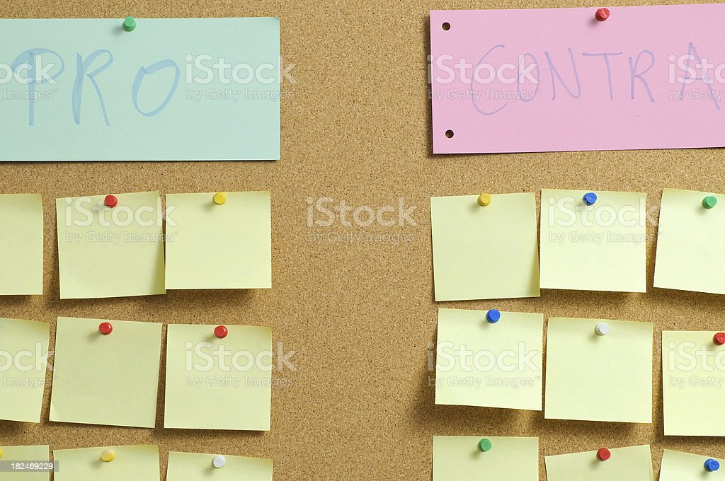Pro and Contra royalty-free stock photo