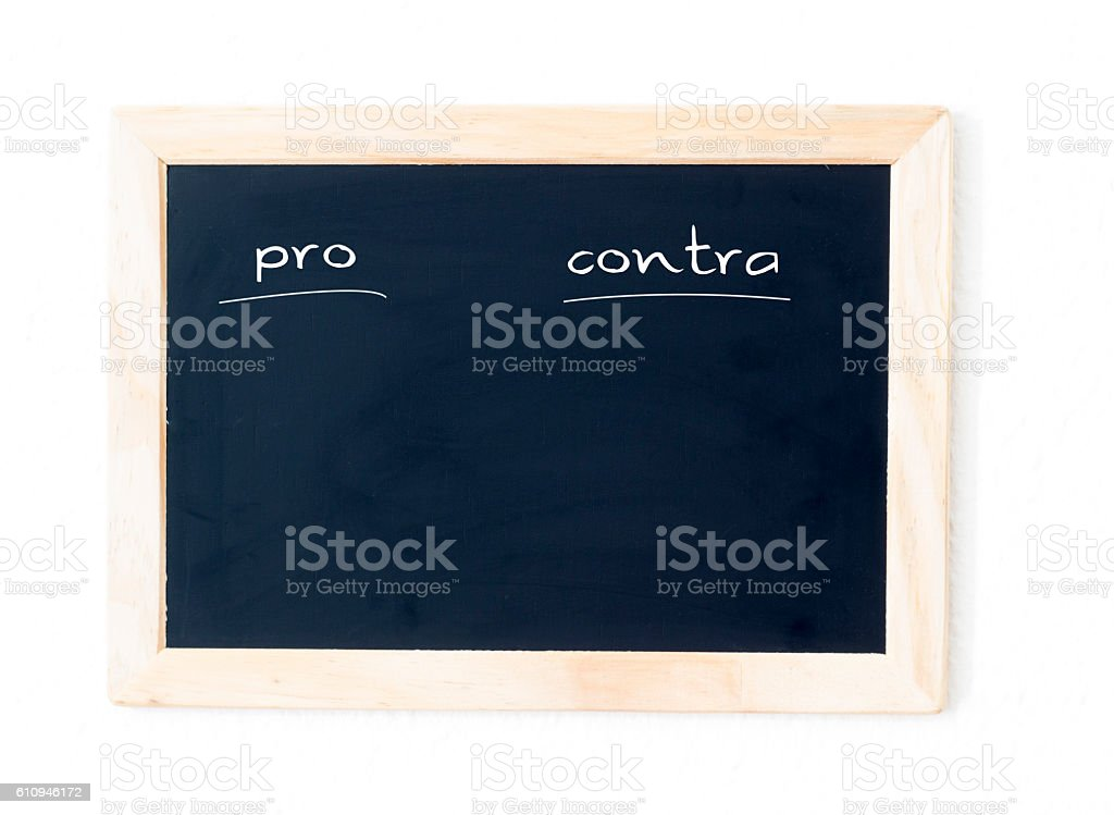 pro and contra stock photo