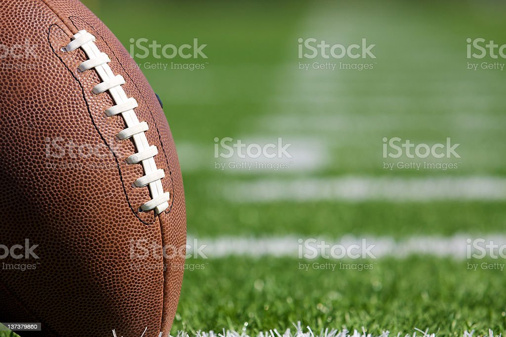 Pro Football on the Field stock photo