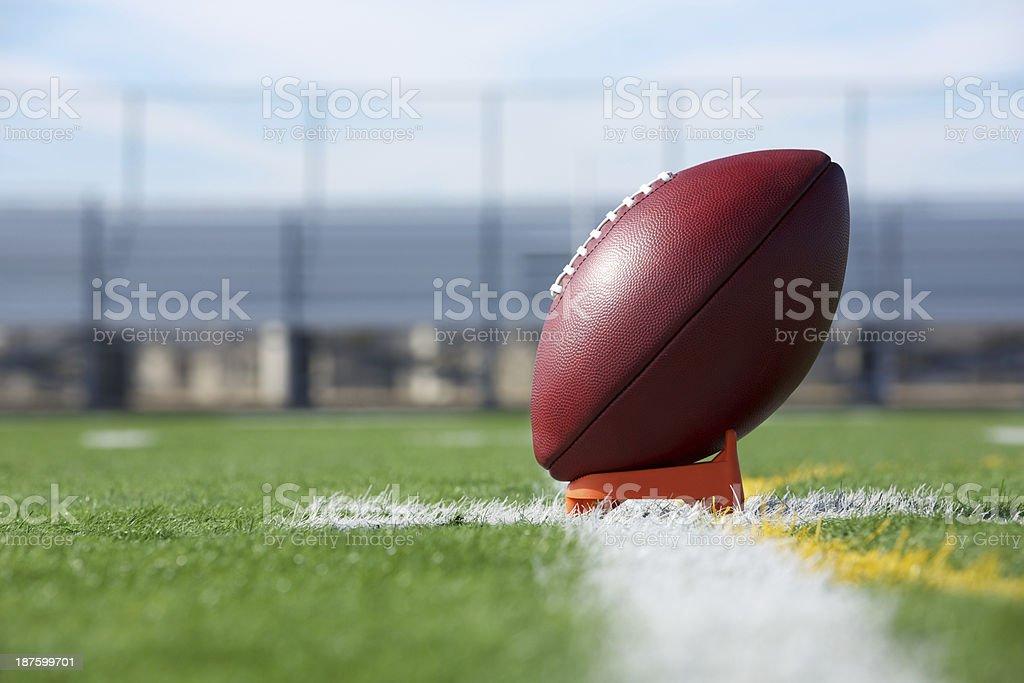 Pro Football teed up for kickoff stock photo