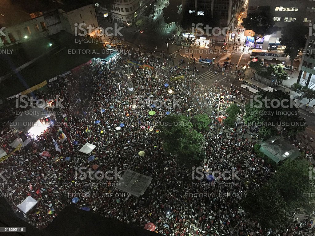 Pro Government Demonstrations in Rio de Janeiro royalty-free stock photo