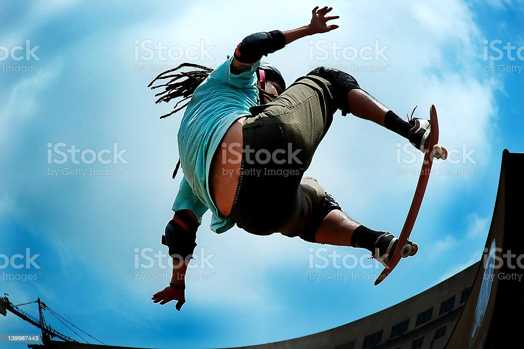 Pro skateboarder stock photo