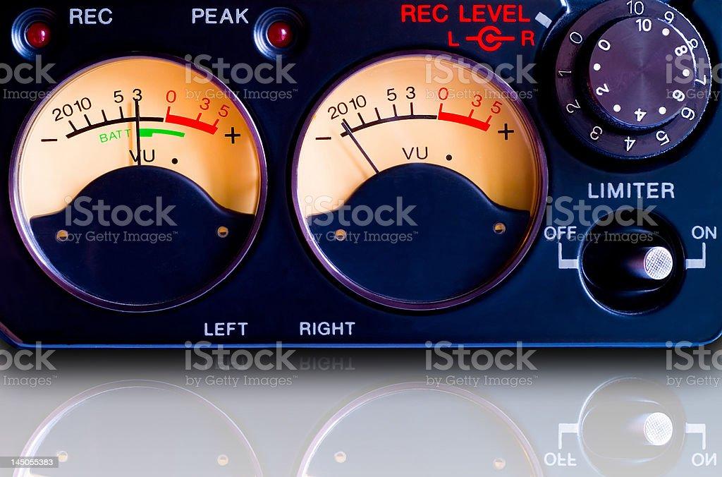 Pro tape recorder closeup royalty-free stock photo