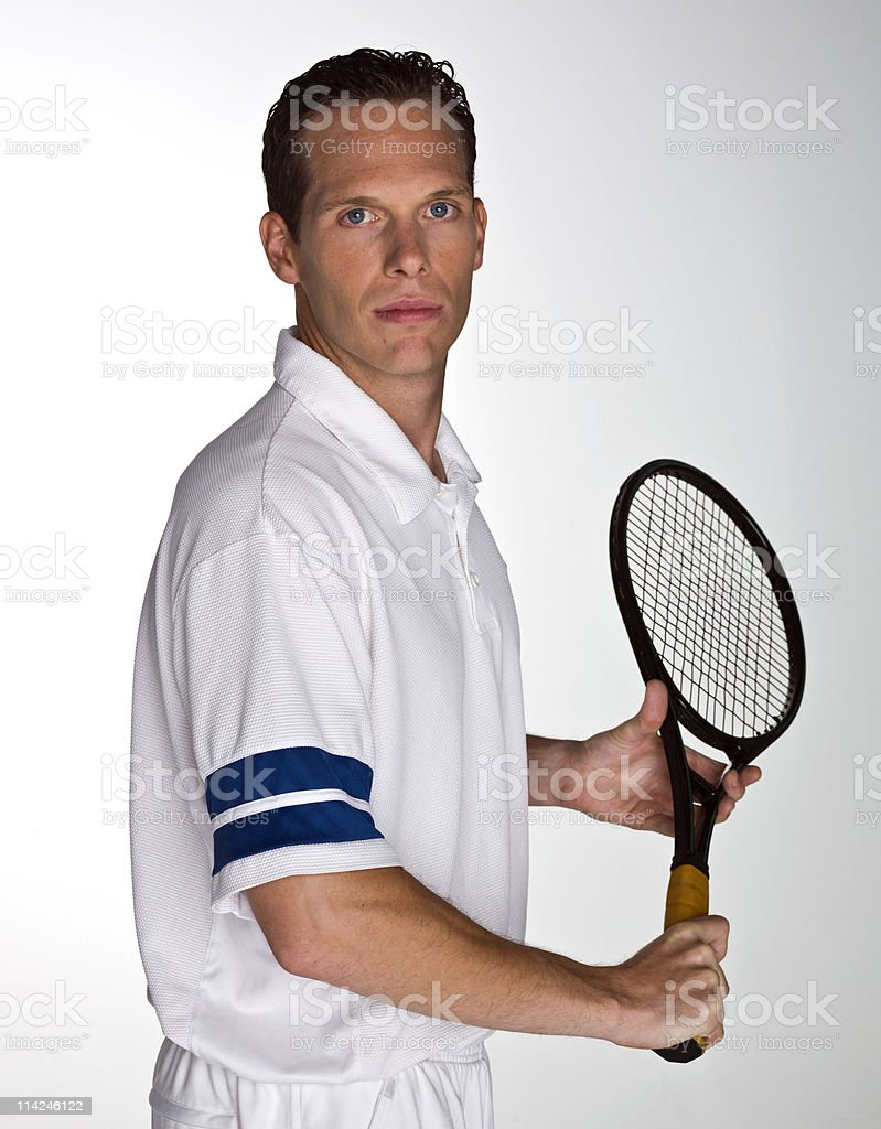 Pro tennis player royalty-free stock photo