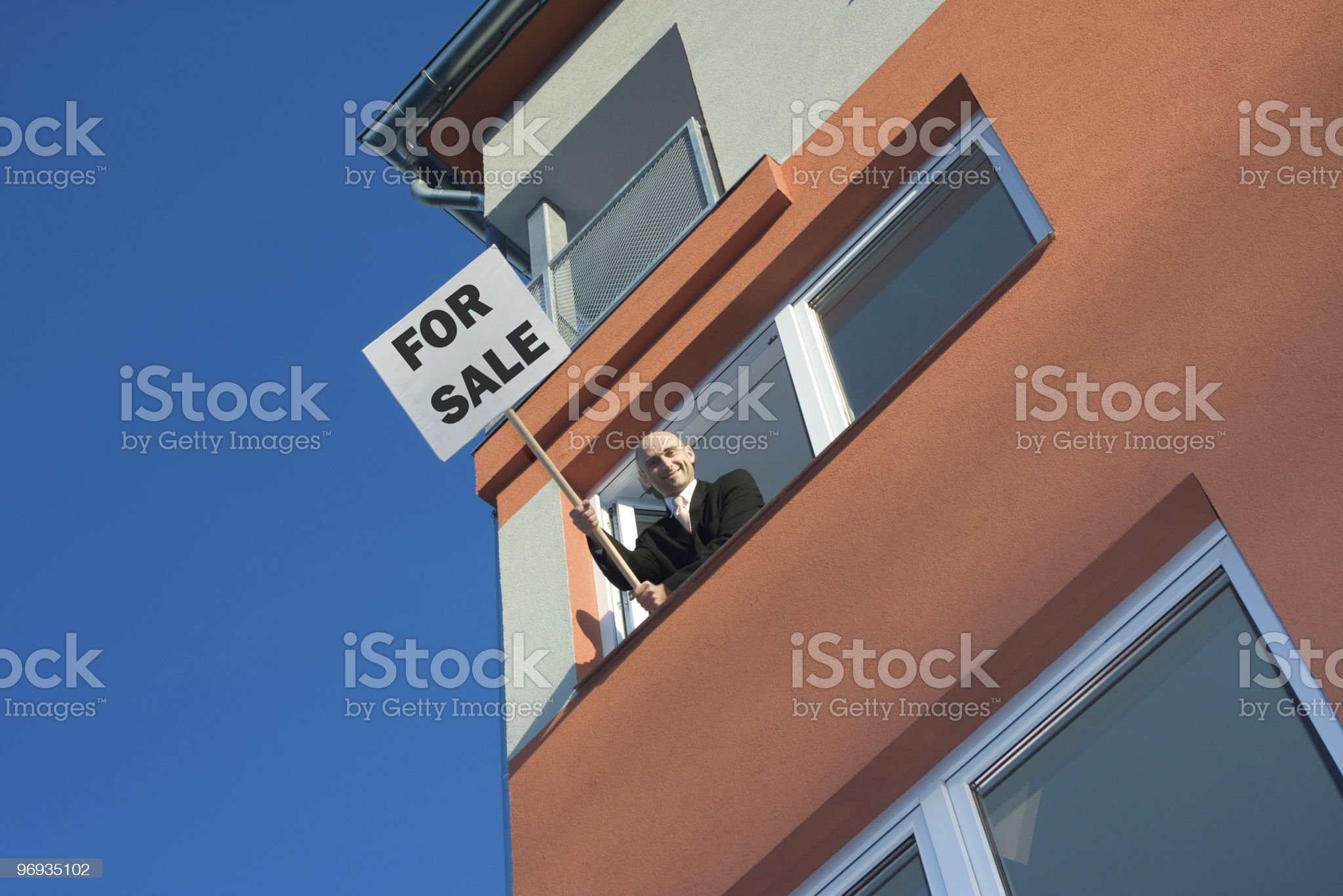 Proactive estate agent royalty-free stock photo