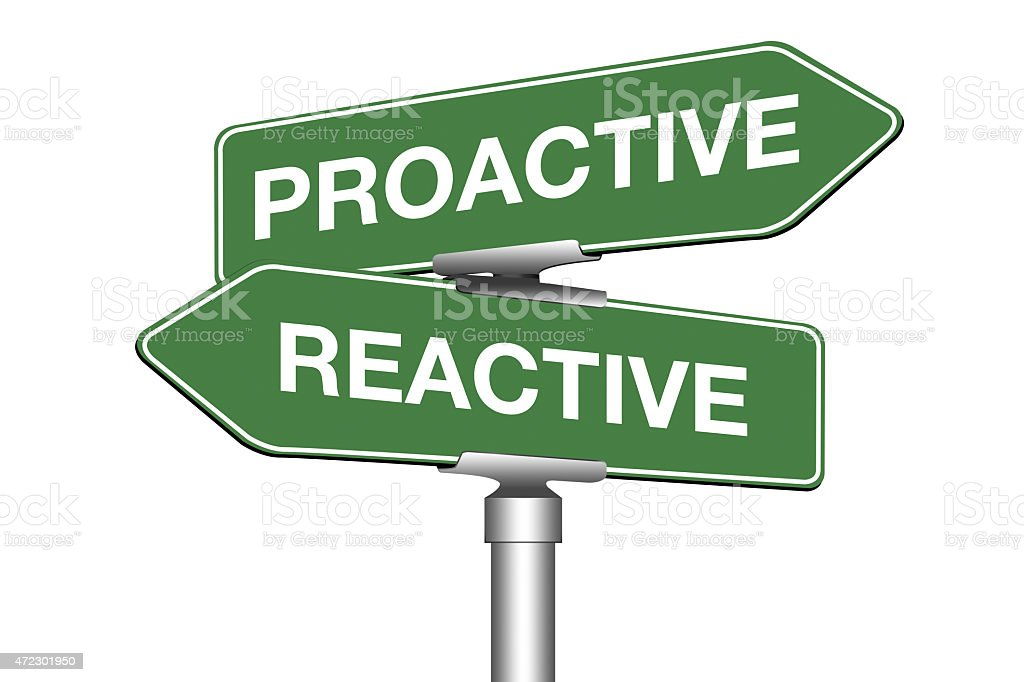 Proactive or Reactive stock photo