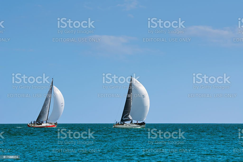Pro-Am Race in the Black Sea stock photo