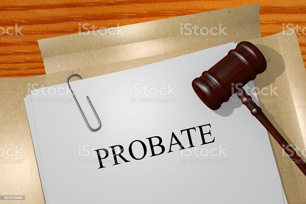 Probate concept stock photo