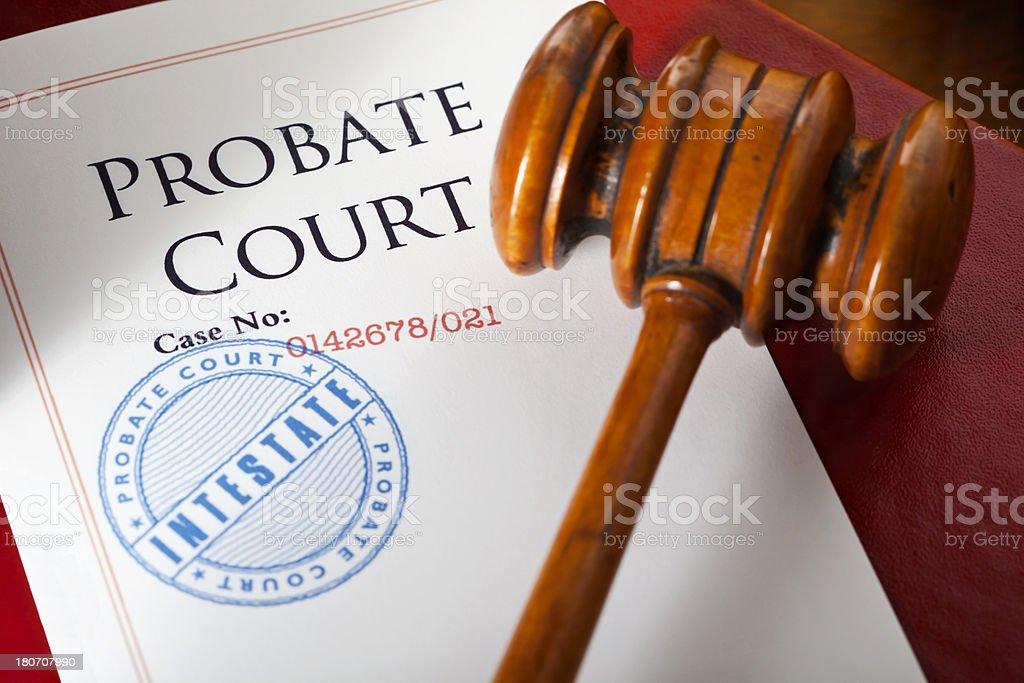 Probate Court Intestate stock photo