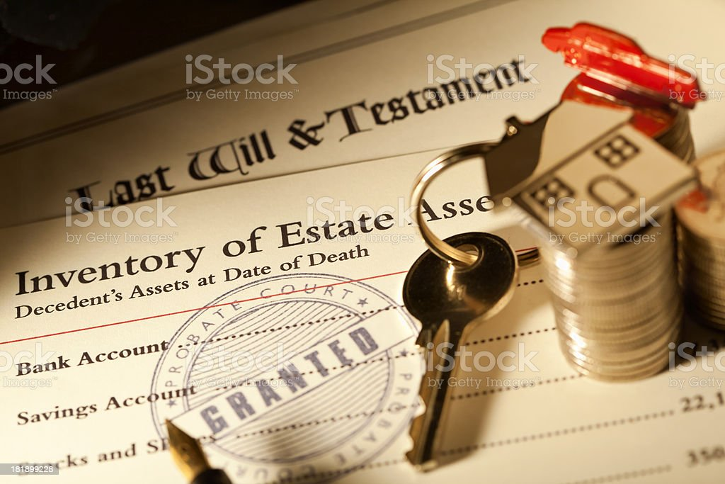 Probate of Will stock photo