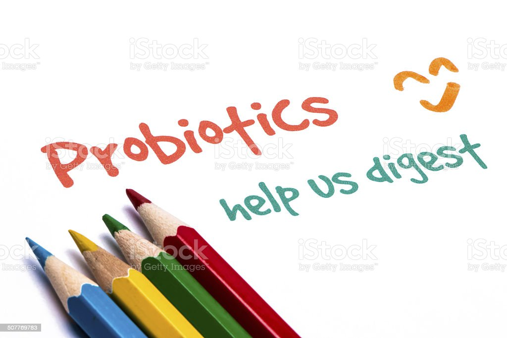 probiofics help us digest stock photo