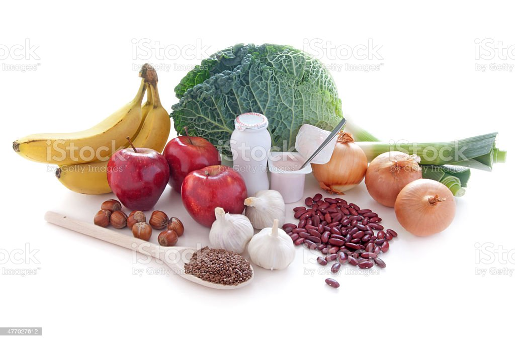 Probiotic (prebiotic) foods stock photo