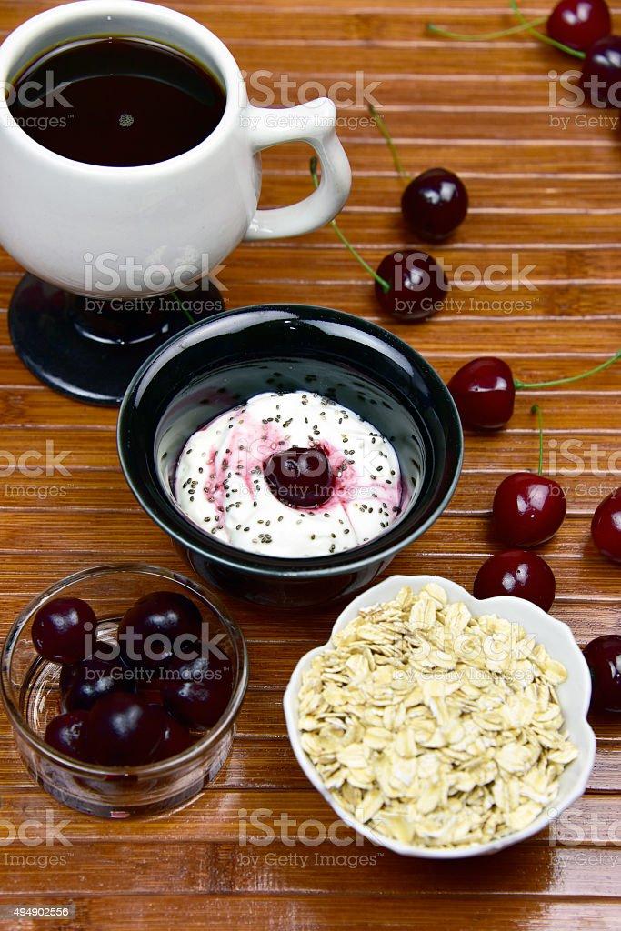 Probiotic Greek Style Yogurt royalty-free stock photo