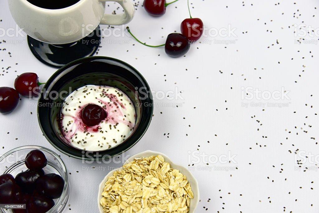 Probiotic Greek Style Yogurt stock photo