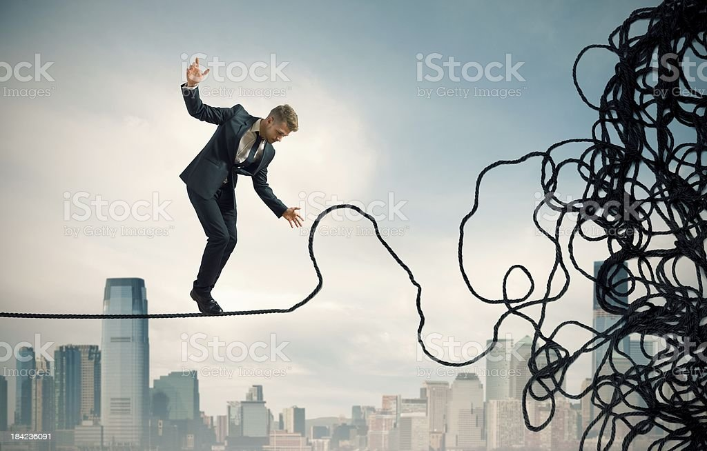 Problem and difficulty concept stock photo