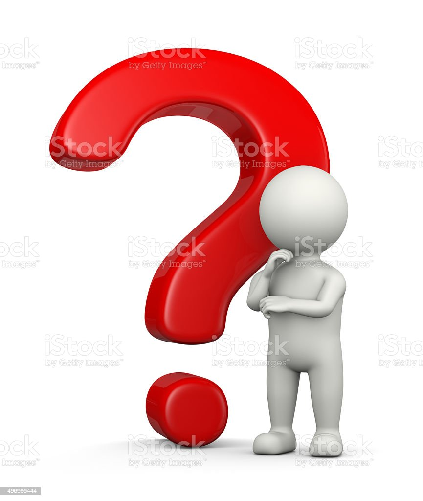 Problem and Question stock photo