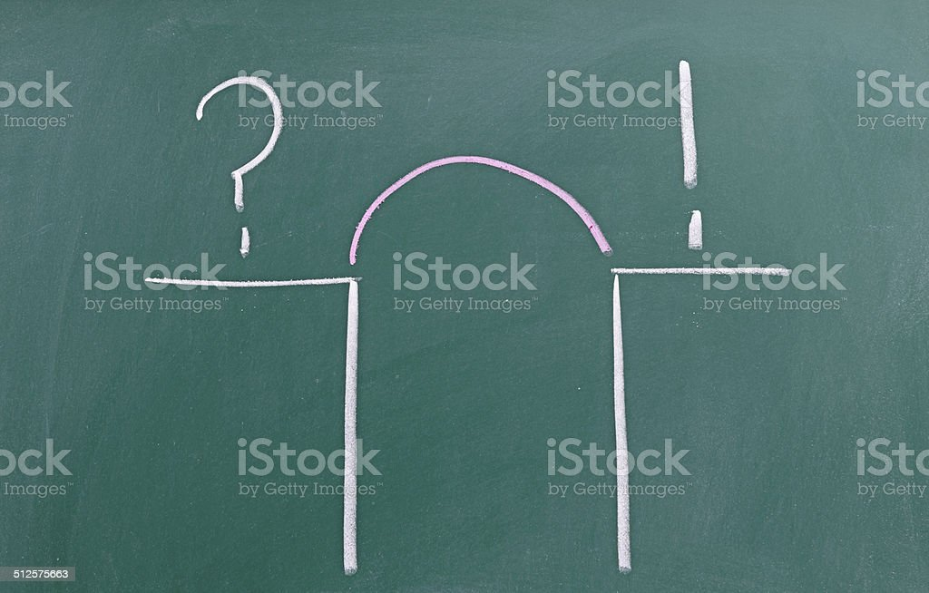 Problem and Solution - Business Concept stock photo