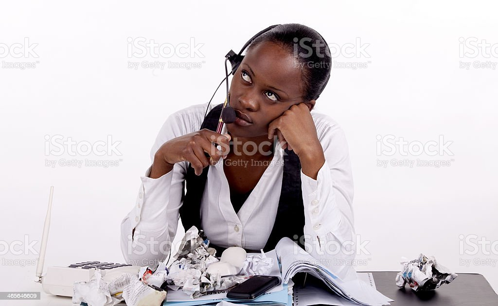 Problem at work royalty-free stock photo