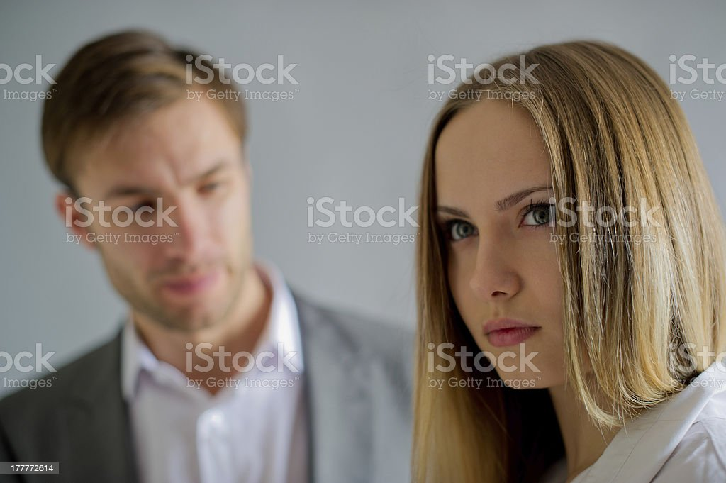 problem in conversation royalty-free stock photo