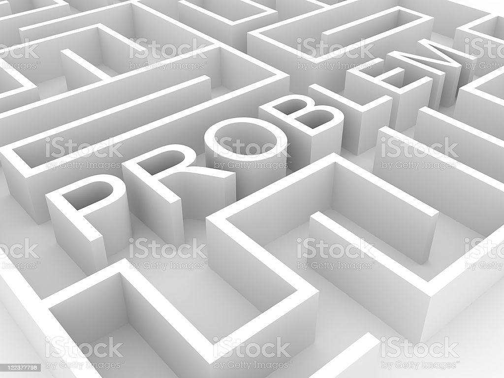 Problem Labyrith royalty-free stock photo