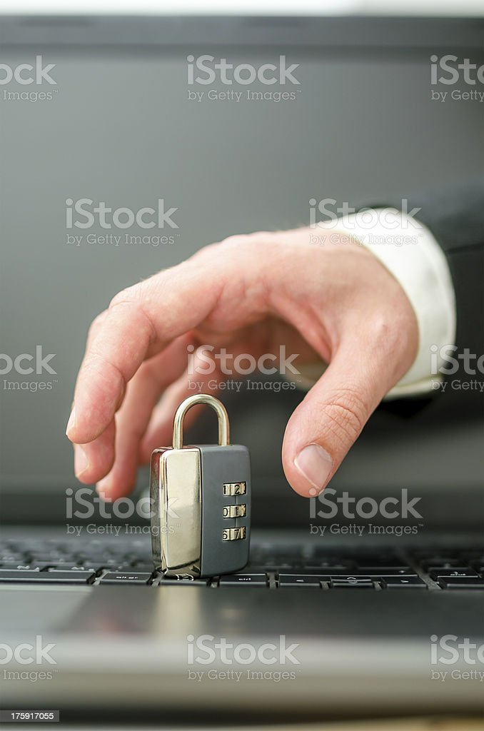 Problem of internet crime royalty-free stock photo