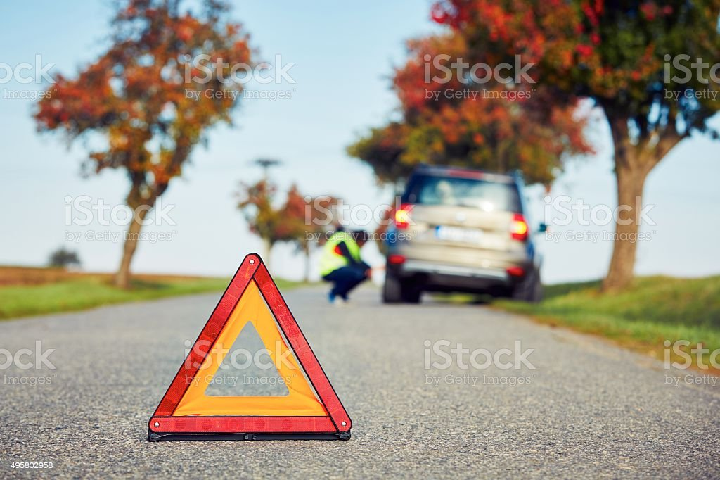 Problem on the road stock photo