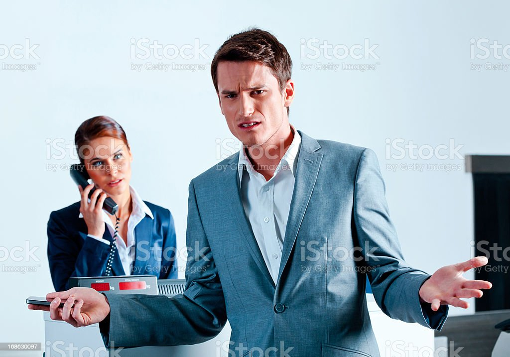 Problem with airline booking royalty-free stock photo