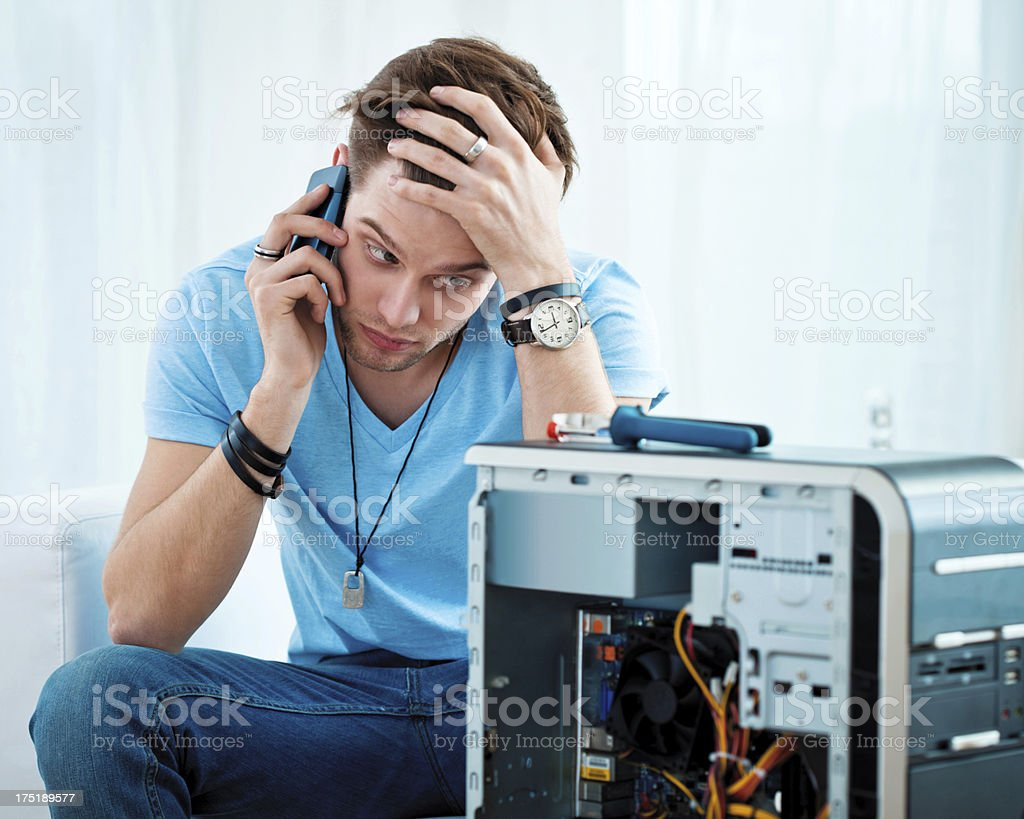 Problem with computer royalty-free stock photo