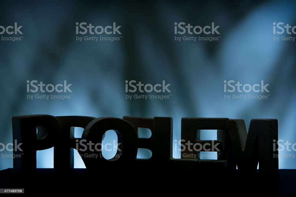 Problem, wood letter word royalty-free stock photo