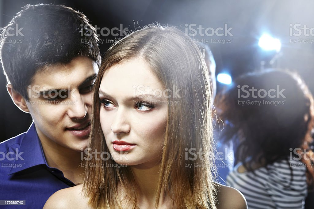 Problems at nightclub royalty-free stock photo