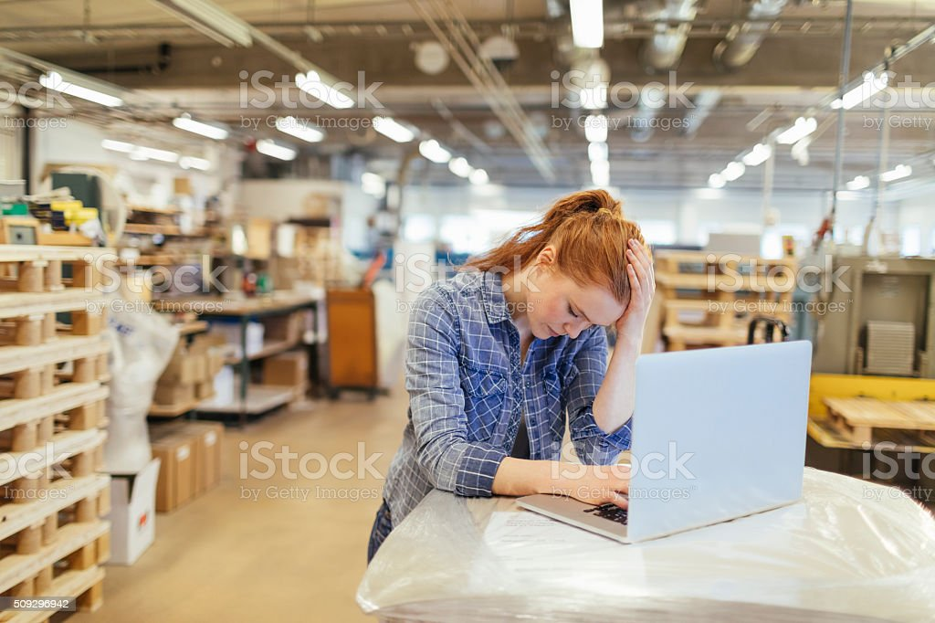 Problems at work stock photo
