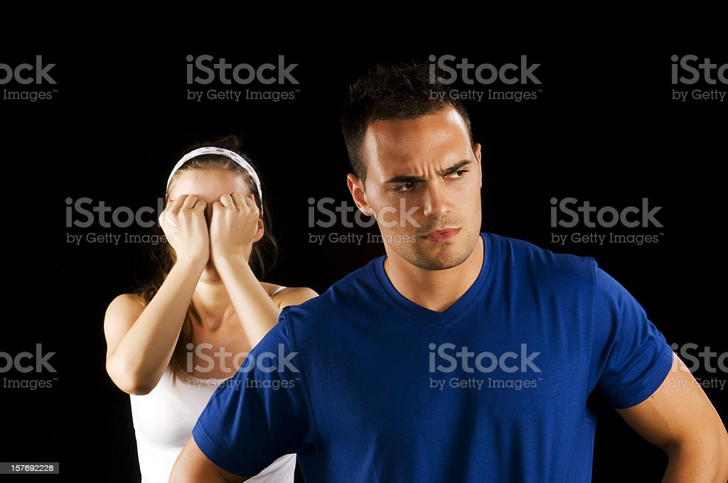 Problems between couple royalty-free stock photo