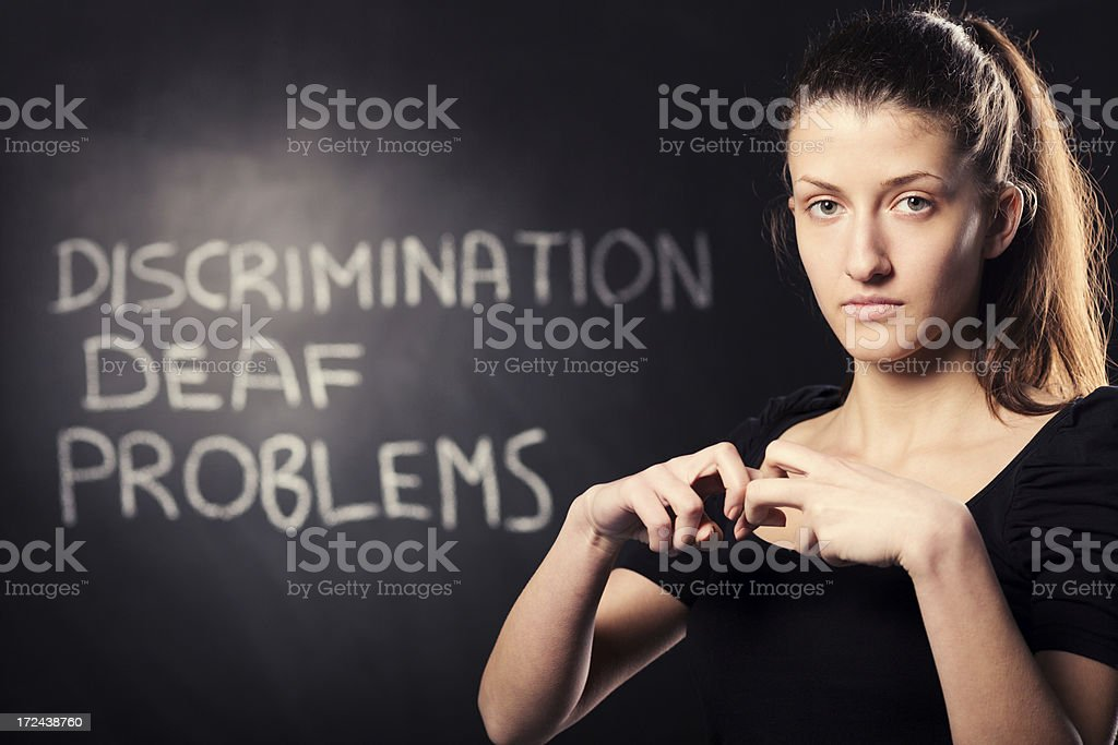 Problems hand sign royalty-free stock photo