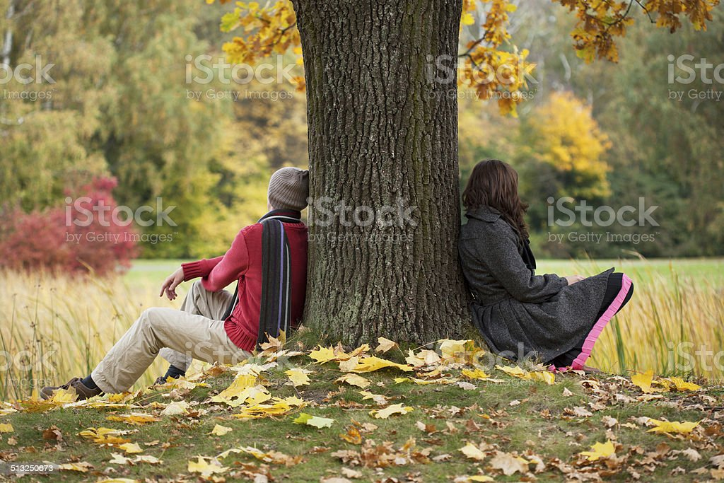 Problems in couple stock photo